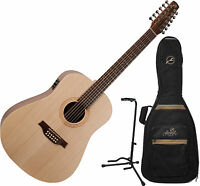 Seagull Excursion Walnut 12-string Acoustic-electric Guitar W/bag And Stand