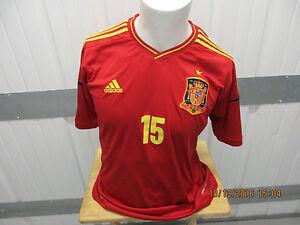 Image is loading VINTAGE-ADIDAS-SPAIN-NATIONAL-FOOTBALL-TEAM-SERGIO-RAMOS- 8ab813eb2