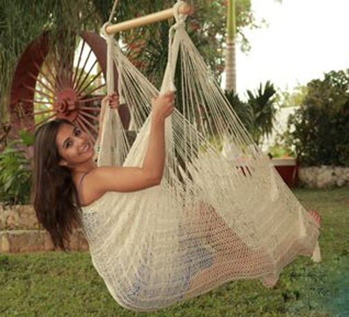 Outdoor Mayan 1-Person Single Chair Hammock - Holds 330 lbs.