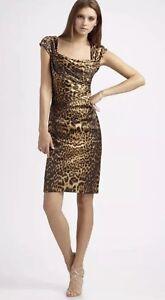 Tadashi-Shoji-Beautiful-Sexy-Classy-Animal-Print-Dress-Size-4-P