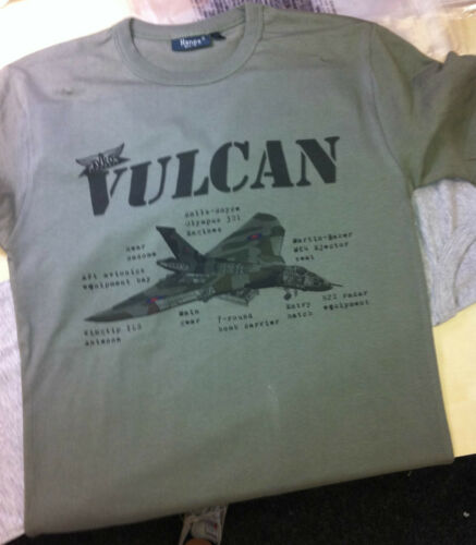 VERDE Oliva//Cachi AVRO VULCAN STAMPATA DA UOMO Pesi Massimi T Shirt 100/% COTONE