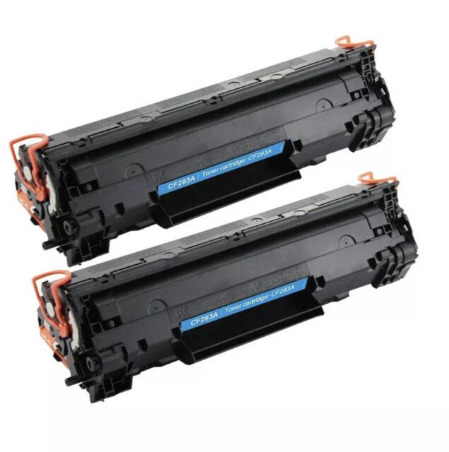 2PK CF283A Black Toner Cartridge for HP 83A LaserJet Pro MFP M127fw M127fn M125