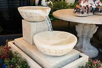 Grc Garden Patio Water Feature Frangipani 2 Tier Cascade Cup Fountain Sandstone