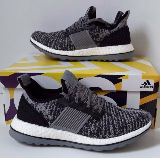 ebd88c3ce New adidas Pure Boost ZG Shoes Energy AQ6766 Black Gray White Ultra Prime  Sz 8