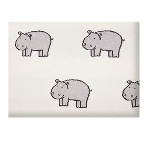 Sevira Kids Lightweight Organic Cotton Baby Blanket Hippo