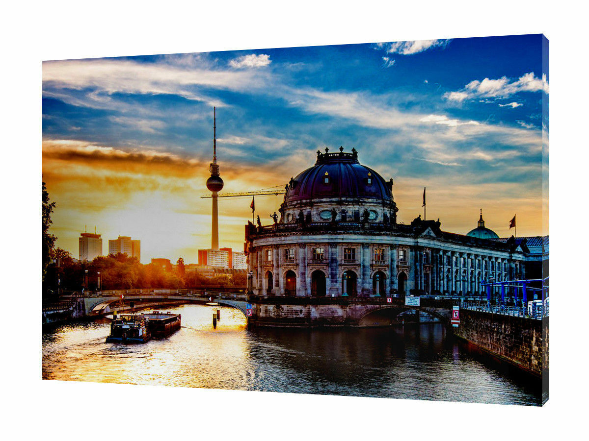 ITALY CITY PHOTO PICTURE PRINT ON WOOD FRAMED CANVAS WALL ART HOME DECORATION