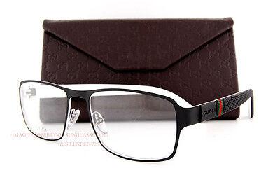1adb587cd830 Brand New GUCCI Eyeglass Frames 2271 M5B Black White Men Women 100%  Authentic