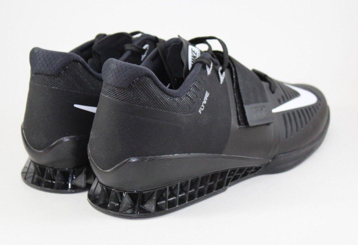 nike romaleos 3 schwarz krafttraining fit schuh über schwarz 3 - weiße 852933-002 größe. 9b3337