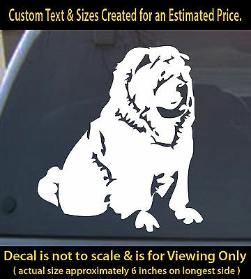 Dog Chow  6 inch car truck home outdoor sticker pet lover canine decor laptop