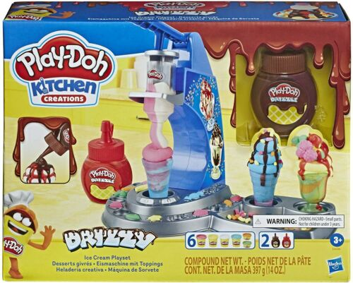 Hasbro E66885L0 Kitchen Creations Play-Doh Drizzy Eismaschine mit Toppings,