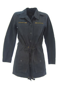 DOLCE-VITA-Women-039-s-G-I-Navy-Blue-Cotton-Drawstring-Military-Jacket-209-NEW