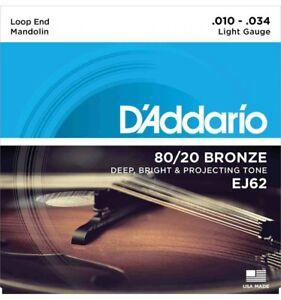 D-039-Addario-EJ62-80-20-bronze-10-34-Jeu-de-cordes-Mandoline