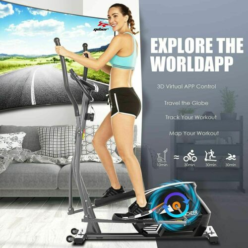 Details about  /ANCHEER Magnetic Elliptical Machine FitnessTrainer with 3D Virtual APP Control