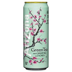 arizona green tea with ginseng honey 23 oz can 24 case 827195