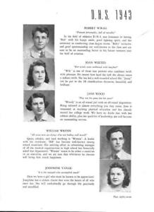 Details about 1943 DANBURY HIGH SCHOOL YEARBOOK, REFLECTIONS, DANBURY,  CONNECTICUT