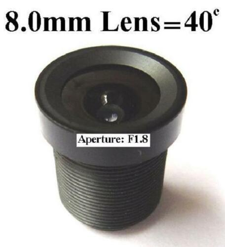 Used for CCTV Cameras 8.0mm F1.8 40 Degrees Monofocal Fixed Iris type  Lens