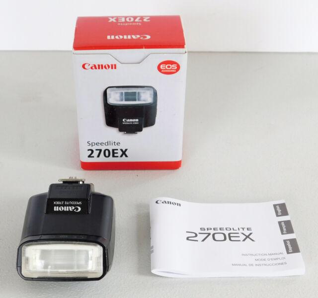 Canon 270EX II Speedlite Compact Flash – Used with Original Box & Manual