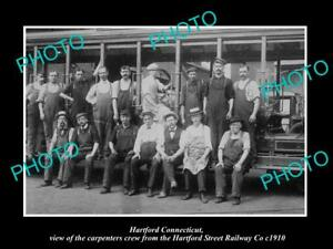 OLD-LARGE-HISTORIC-PHOTO-OF-HARTFORD-CONNECTICUT-THE-RAILWAY-CARPENTERS-c1910
