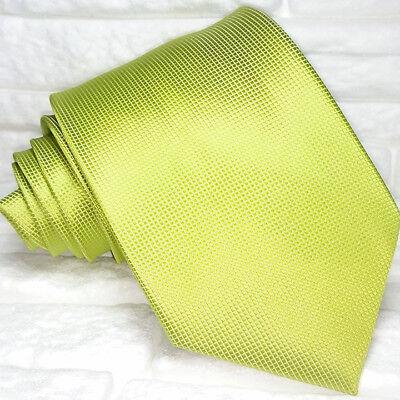 Ambizioso Cravatta Seta Uomo Verde Top Quality Nuovo Made In Italy Morgana Brand