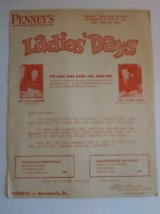 Vintage 1960's Penny's Store Advertisement Flyer Ladies' Days Monroeville PA