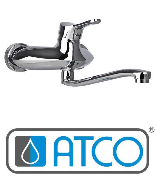 ATCO® YPSILON Wandarmatur Spültischarmatur Küchenarmatur Wasserhahn S-Auslauf