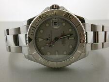 "Rolex Yachtmaster 168622 S/S & Platinum 35MM Unisex Watch ""P"" Series. MINT!!!"