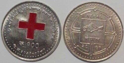 Nepal 100 Rupees 2015 Red Cross Society Golden Jubilee Colored UNC