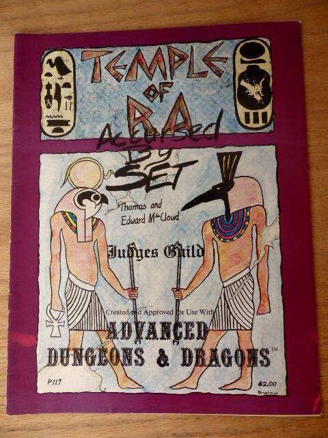 Judges Guild D&D Module Temple of Ra - Accursed by Set (1st Printing) SC VG+