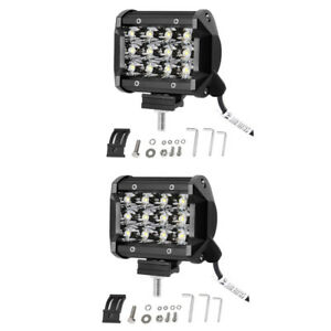 Le 2pcs 4 inch led light bar 36w 3600lm waterproof driving work spot image is loading le 2pcs 4 inch led light bar 36w aloadofball Images