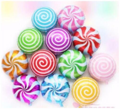 """Al por mayor 18/"""" globos de papel de aluminio Sweet Candy Lollipop Globos De Verano Fiesta De Cumpleaños"""