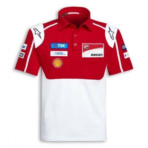 POLOSHIRT Bike MotoGP Ducati Alpinestars Sponsor Polo Motorcycle NEW Red