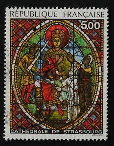 timbre poste. France. n°2363. Vitrail de la cathédrale de Strasbourg.