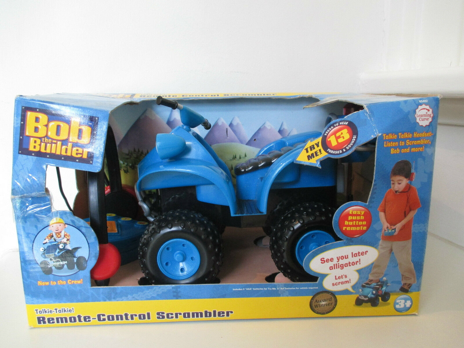 Bob the Builder Remote Control Scrambler with Talkie Talkie Headset - Ages 3+