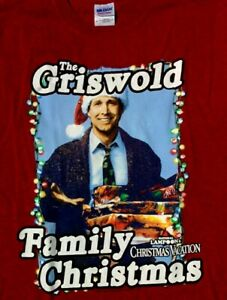 NWT Griswold Family Lampoon Christmas Vacation T SHIRT MEDIUM Clark Santa Chase