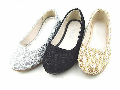 9460c9336c62 New Youth Kid s Girl s Glitter Flats Party Dress Shoes Size 11-4