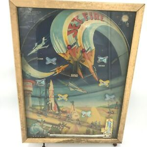 Vtg 1950s Northwestern Products Tabletop Pinball Jet Fire Aviation Space Toy GM