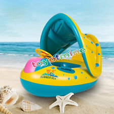 Inflatable Toddler Baby Swim Ring Float Kid Swimming Pool Water Seat with Canopy