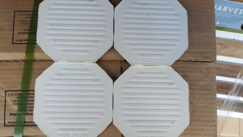 "4 pc American Olean Vintage Ceramic Floor Tile 4 1//4/"" Crystalline White Octagon"