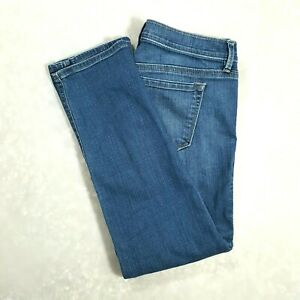 ANN-TAYLOR-LOFT-Womens-Low-Rise-Cropped-Capri-Jeans-SKINNY-Medium-Wash-Size-6