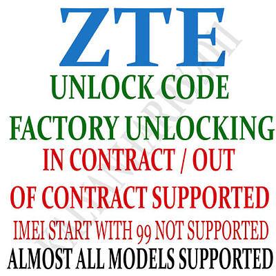 ZTE NETWORK UNLOCK CODE MF910V  Telstra 4GX Wi-Fi MODEM