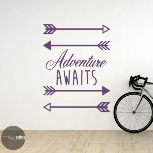 Adventure Awaits With Arrows Vinyl Wall Decal Sticker