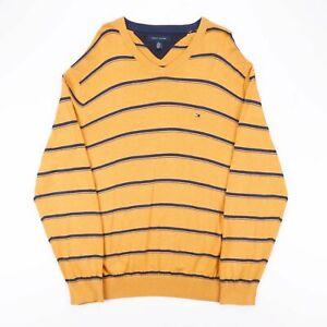Tommy Hilfiger gelb 00s V-Neck Pullover Herren XL