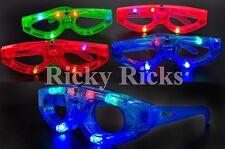 12 Light-Up Glasses Kids Sunglasses LED Shades Flashing Blinking Rave Glow Party