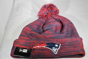ae62a0908d30e New Era Marl New England Patriots Knitted Bobble Hat - Red Navy ...