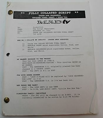 MADtv * 2001 Original TV Show Script * Season 7 Episode 9, Harry Potter  Scene | eBay