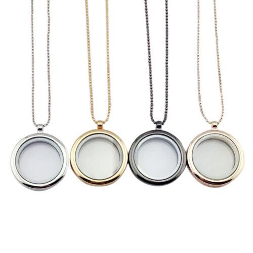 Floating Living Memory Glas Runde Medaillon Charms Anhänger Halskette S JD lu
