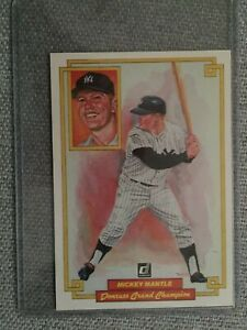 Details About Mickey Mantle 1984 Donruss Perez Steele Grand Champion Jumbo Card 50 Yankees