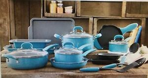 New Pioneer Woman 20 Piece Cookware Set Vintage Speckled