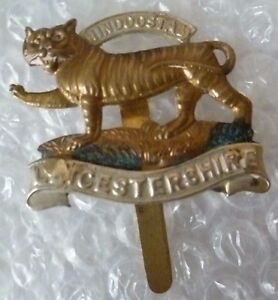 Badge-Leicestershire-Regiment-Hindoostan-Cap-Badge-Genuiine