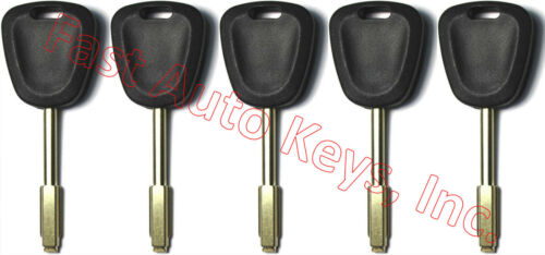 5 NEW FOR JAGUAR REPLACEMENT TRANSPONDER CHIPPED UNCUT IGNITION//DOOR KEYS TBE1T5